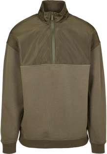 Herren Fleecepullover Military Troyer