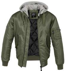 Brandit Bomberjacke MA-1 mit Sweat Hooded
