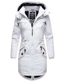Marikoo Damen Winter Parka Kamii - Weiss