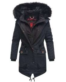 Marikoo Damen Winter Parka Knutschkugel - Navy