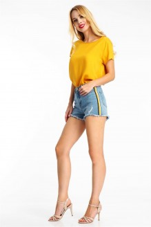 Damen Shorts Y Stripe